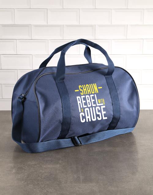 personalised: Personalised Rebel Navy Sports Bag!