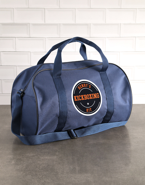 fathers-day: Personalised Navy Kit Bag!