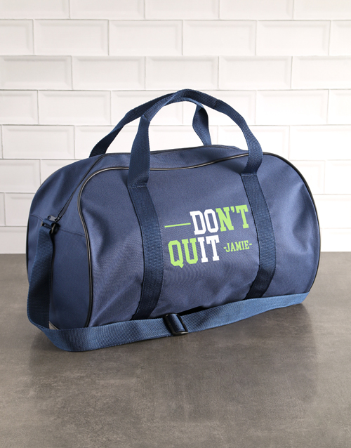 personalised: Personalised Do It Navy Gym Bag!