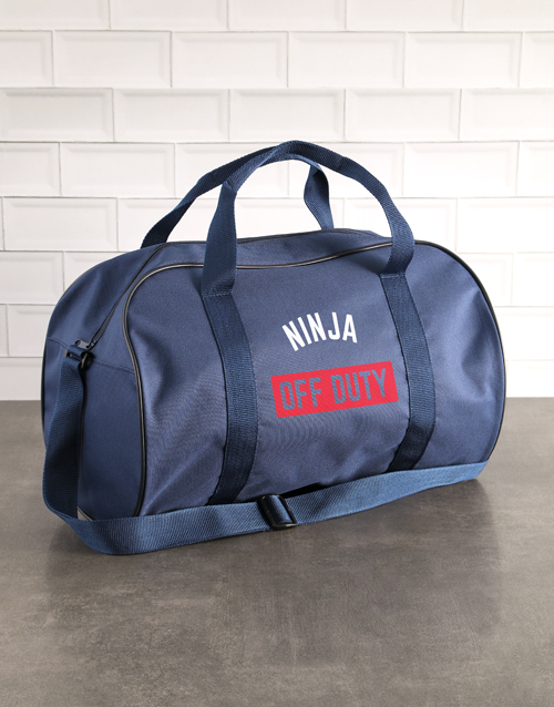 personalised: Personalised Off Duty Navy Sports Bag!