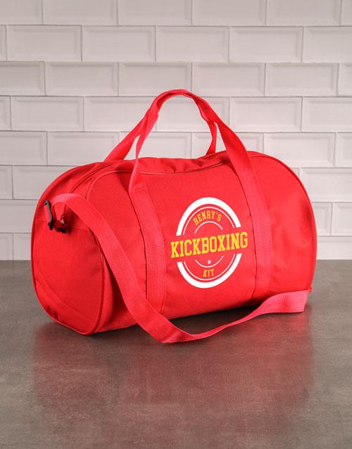 personalised: Personalised Red Kit Bag!