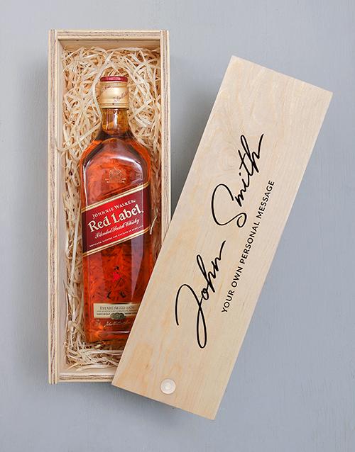 valentines-day: Personalised Monogram Johnnie Walker Crate!