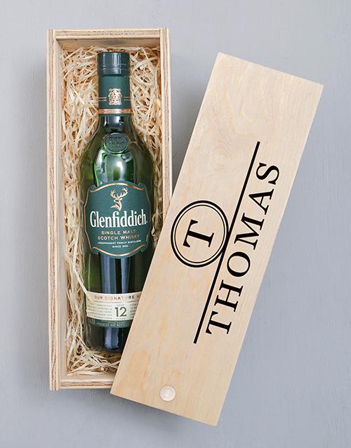 personalised: Personalised Glenfiddich Monogram Crate!