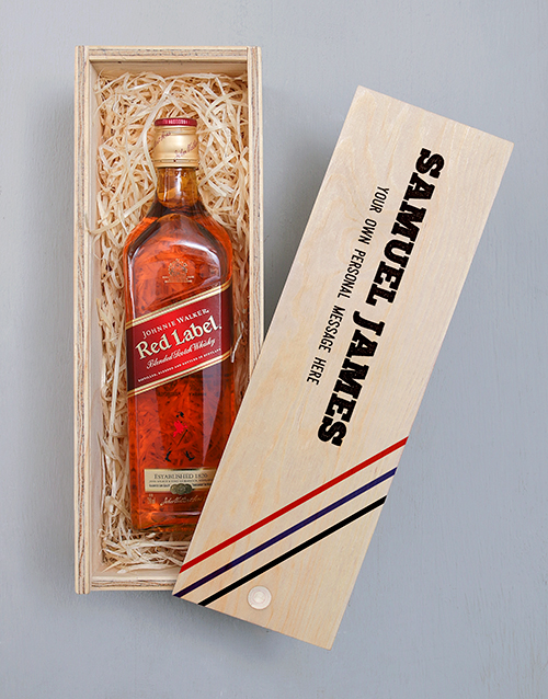 personalised: Personalised Johnnie Walker Printed Crate!