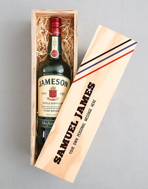 personalised: Personalised Jameson Whiskey Printed Crate!