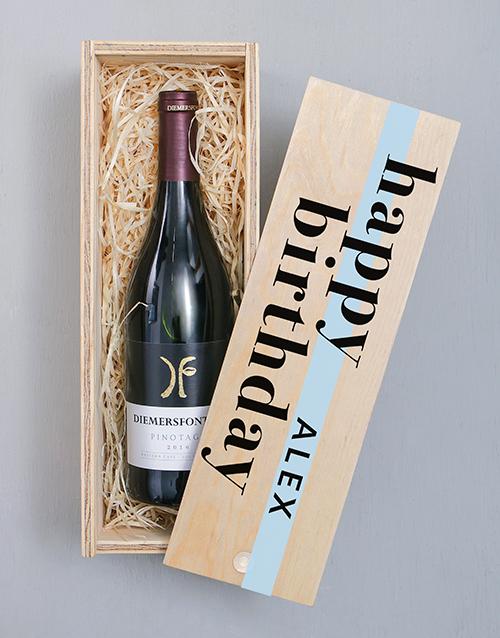 personalised: Personalised Diemersfontein Wine Crate!
