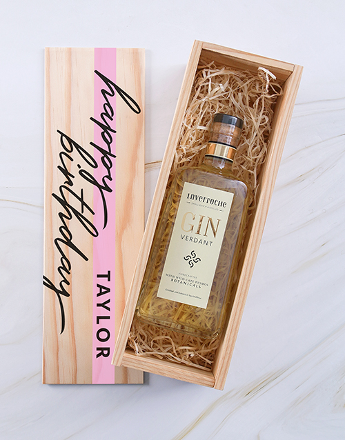 gifts: Personalised Inverroche Gin Wine Printed Crate!
