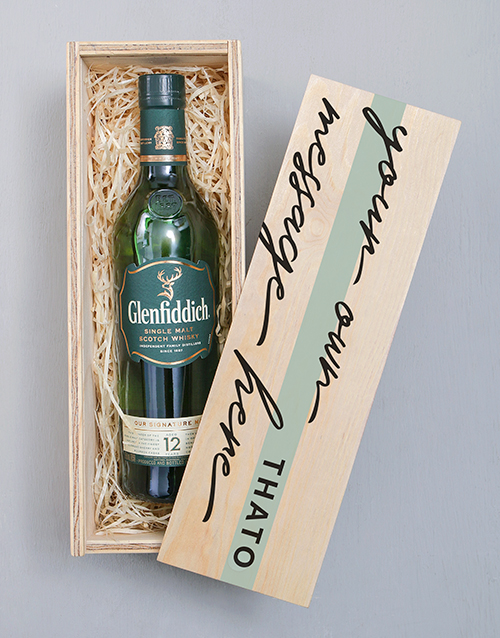gifts: Personalised Glenfiddich Printed Crate!