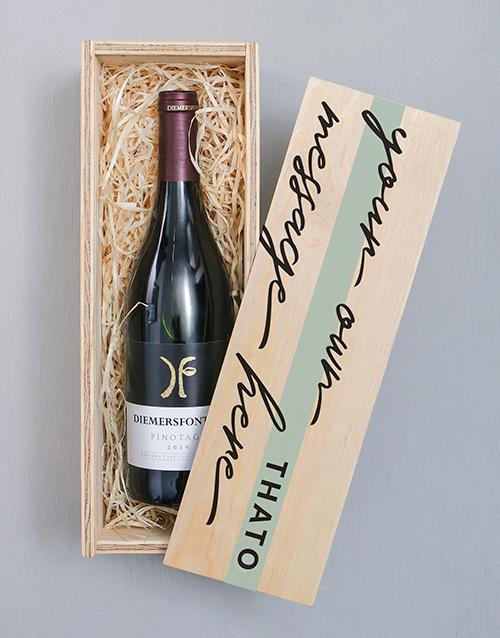 bosses-day: Personalised Diemersfontein Wooden Crate!