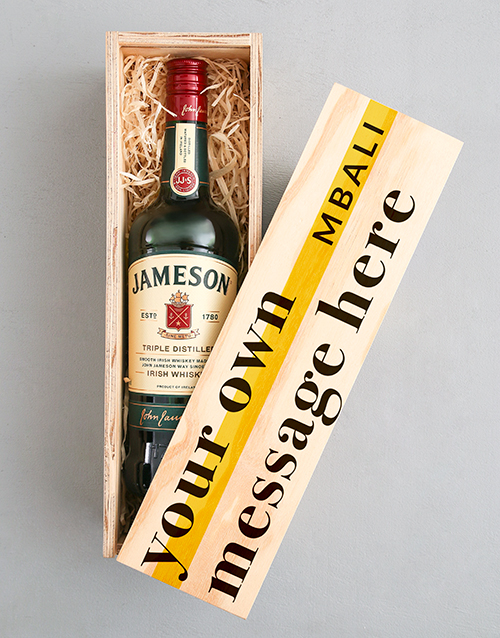 personalised: Personalised Jameson Wooden Crate!