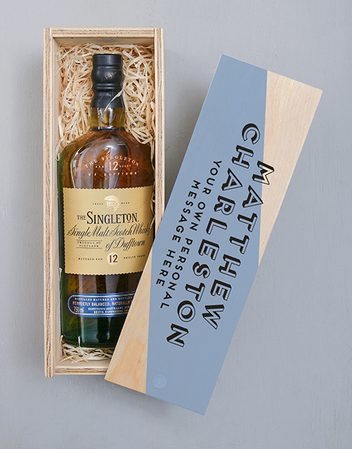 personalised: Personalised The Singleton Wooden Crate!