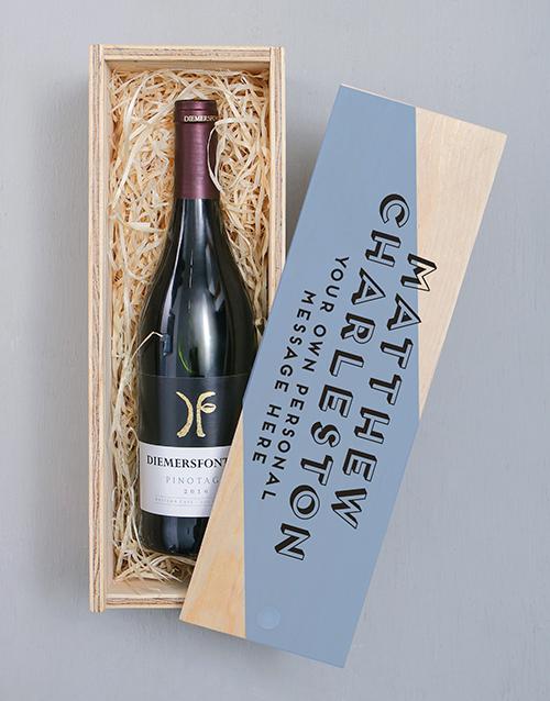 personalised: Personalised Diemersfontein Pinotage Crate!