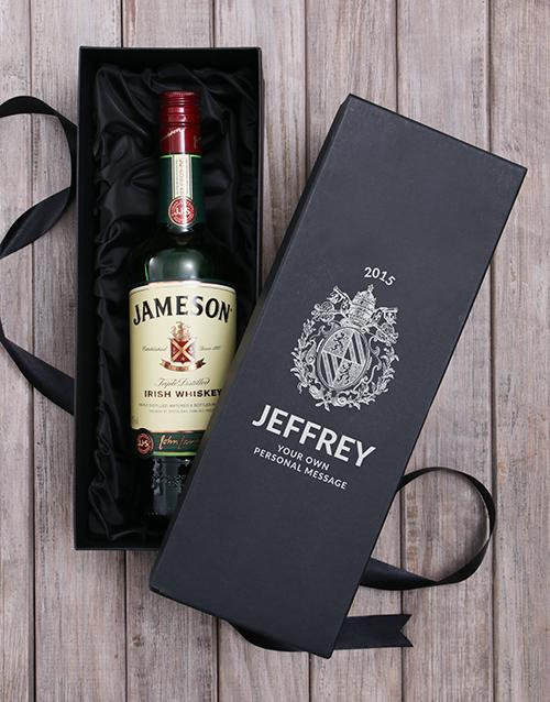 personalised: Personalised Jameson Irish Whiskey Wine Box!