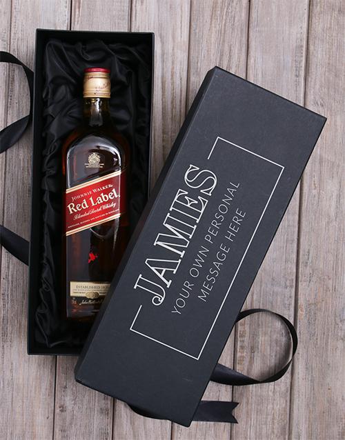 personalised: Personalised Johnnie Walker Wine Giftbox!