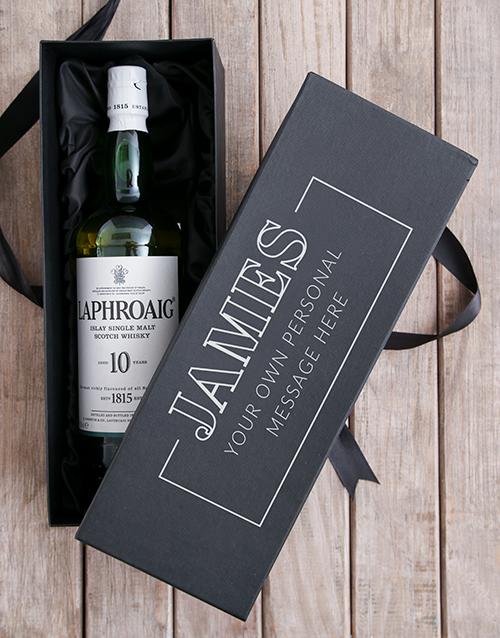 gifts: Personalised Laphroaig Wine Giftbox!
