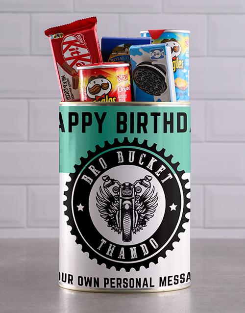 birthday: Personalised Birthday Bro Bucket Hamper !