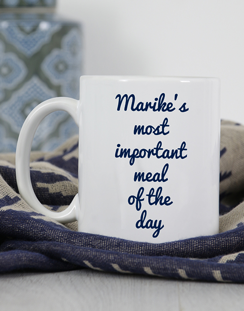 personalised: Personalised Important Meal Mug!