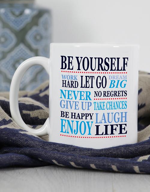 personalised: Personalised Be Yourself Mug!
