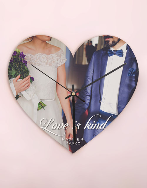 home-decor: Personalised Love is Kind Heart Clock!
