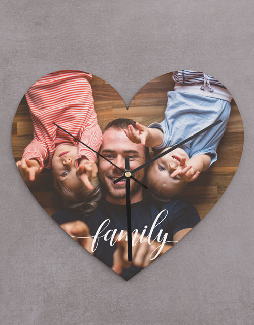 personalised: Personalised Family Heart Shaped Clock!