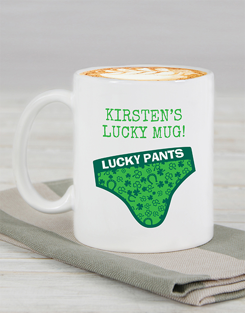 personalised: Personalised Lucky Pants Mug!