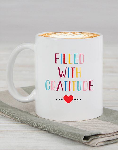 personalised: Personalised Filled With Gratitude Mug!
