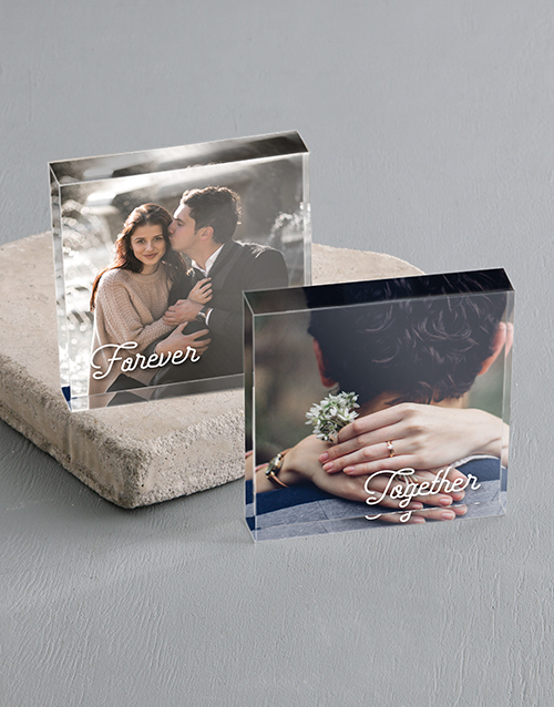 anniversary: Personalised Together Forever Acrylic Photo Blocks!