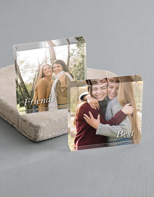 anniversary: Personalised Best Friends Acrylic Blocks!