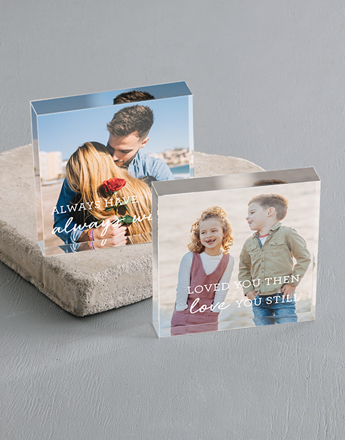 anniversary: Personalised Love You Always Acrylic Blocks!