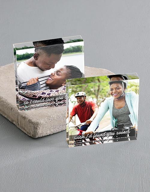 anniversary: Personalised Love You Longer Acrylic Blocks!
