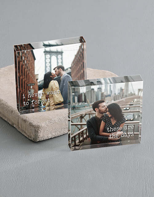 anniversary: Personalised Never Forget You Acrylic Blocks!
