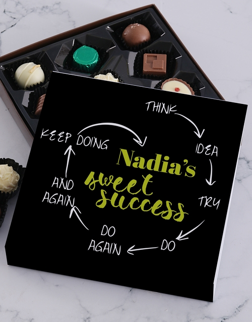 good-luck: Personalised Sweet Success Choc Tray!