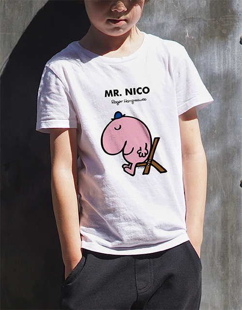 personalised: Personalised Mr Lazy Kids T Shirt!