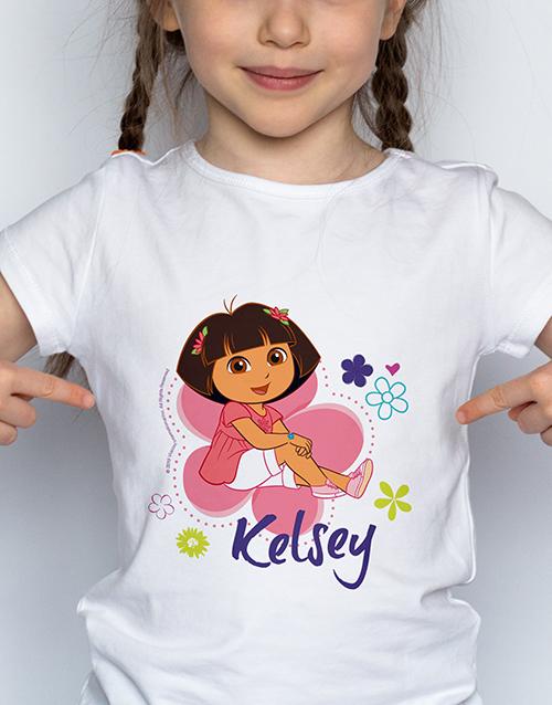 personalised: Personalised Dora Kids T Shirt!
