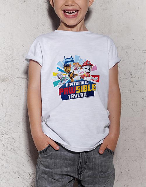 personalised: Personalised Paw Patrol Kids T Shirt!