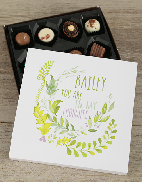 good-luck: Personalised Good Luck Choc Tray!