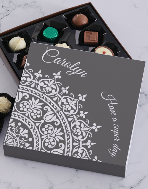 gifts: Personalised Super Day Choc Tray!