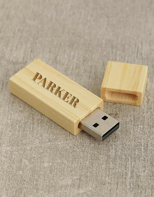 corporate: Personalised Bamboo 8G Flash Drive!