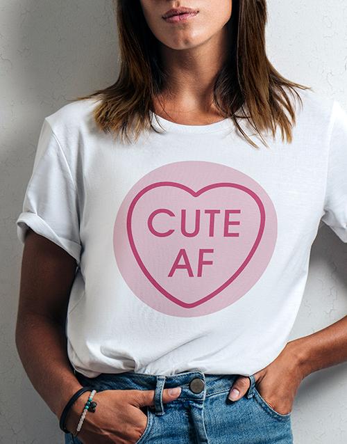 personalised: Personalised Sweetheart Ladies White Tshirt!