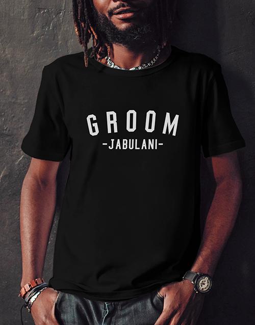 engagement: Personalised Groom Black Tshirt!