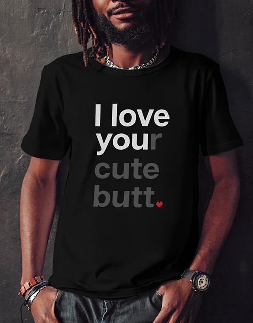 valentines-day: Personalised Love You Black Tshirt!