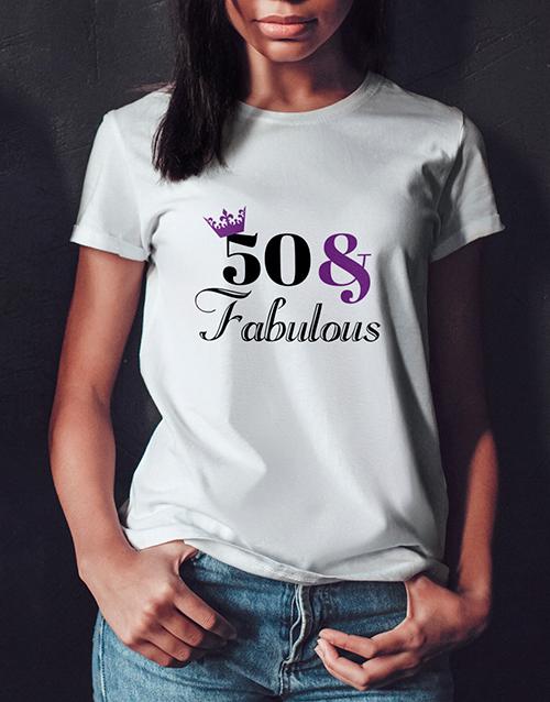 clothing: Personalised Fabulous Birthday Ladies T Shirt!
