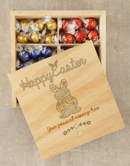 personalised: Personalised Happy Easter Lindt Crate!