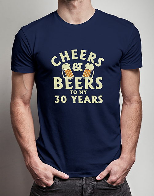 clothing: Personalised Cheers and Beers T Shirt!