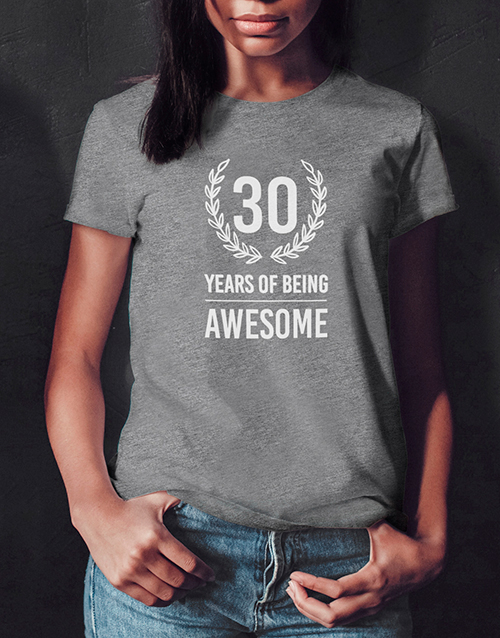 clothing: Personalised Years of Being Ladies T Shirt!