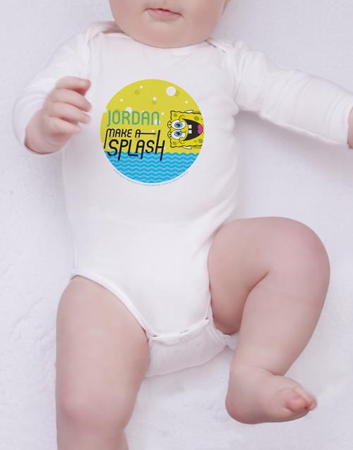 baby: Personalised SpongeBob Splash Onesie!