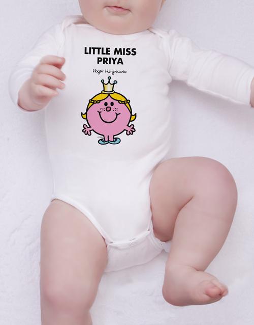 personalised: Personalised Little Miss Princess Onesie!