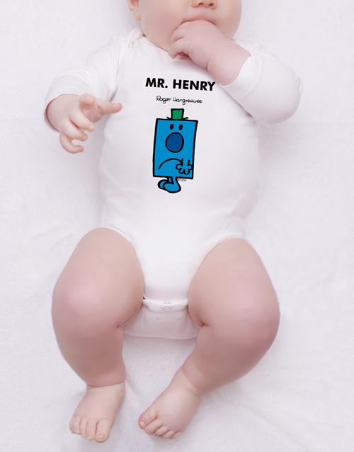 personalised: Personalised Mr Grumpy Onesie!