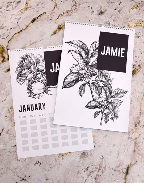 christmas: Personalised Botanical Wall Calendar!