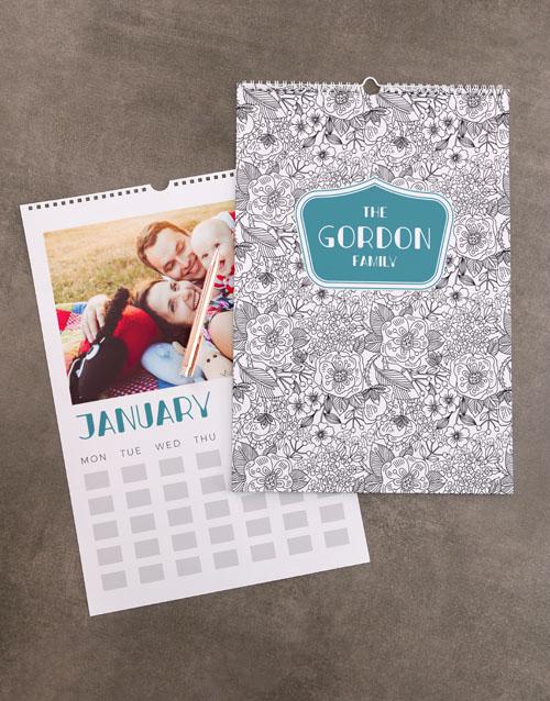 christmas: Personalised Flower Sketch Wall Calendar!